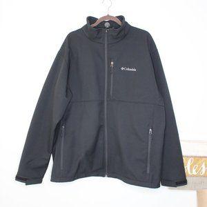 Columbia Ascender Softshell Black Jacket XXL